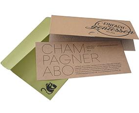 Champagner Abo Grusskarte
