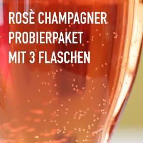 Rosé Champagner - 3 Flaschen 0,75 ltr. mit detaillierten Beschreibungen