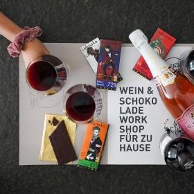 Wein & Schokolade Workshop für zu Hause