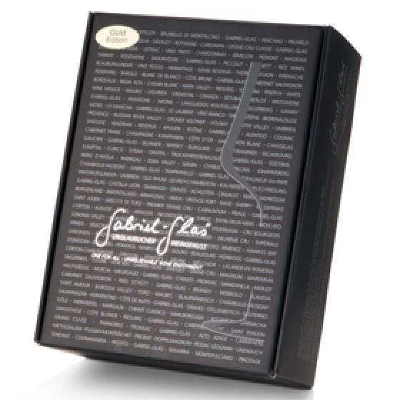 Weinglas Gabriel Gold Edition, 90 Gramm - 2 Stück in Geschenkverpackung im Designkarton von Gabriel-Glas