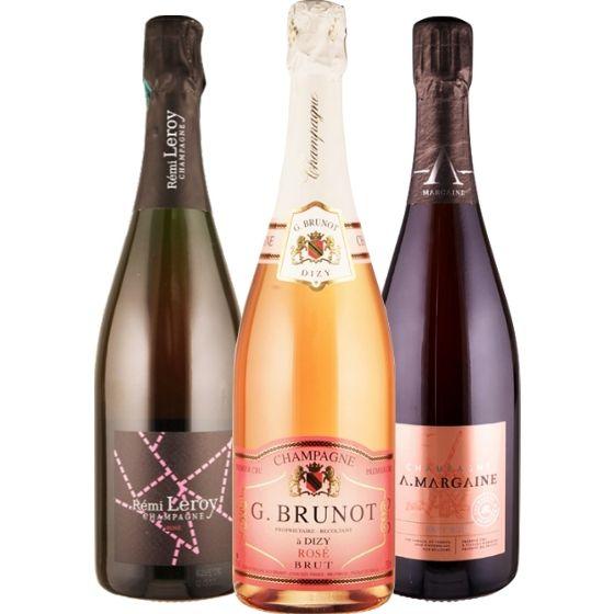 Unsere Rosé Champagner - 3 Flaschen 0,75 ltr. mit detaillierten Beschreibungen von