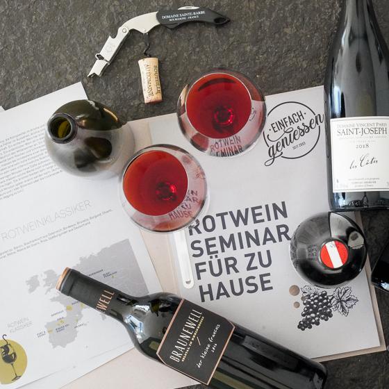 *jetzt neu* Rotweinseminar für zu Hause  von