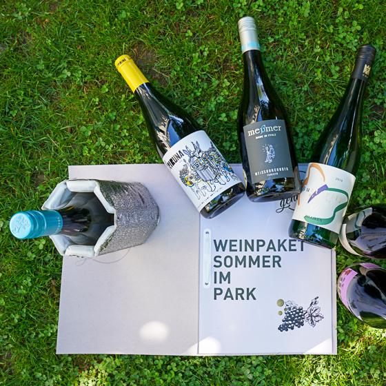 Sommer im Park - 6 Flaschen 0,75 ltr. plus Kühlmanschette