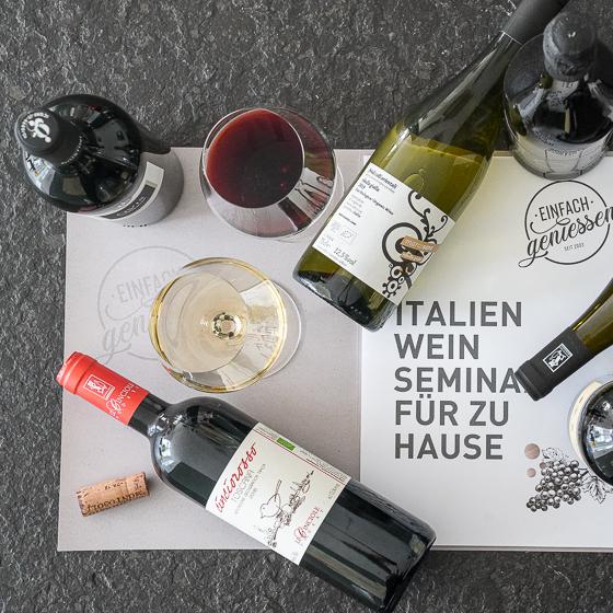 Italien Weinseminar für zu Hause