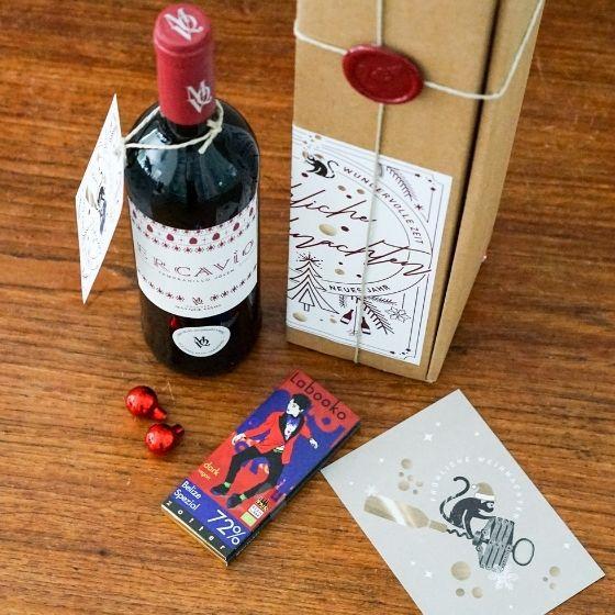 Kleine Aufmerksamkeit - Rotwein & Schokolade