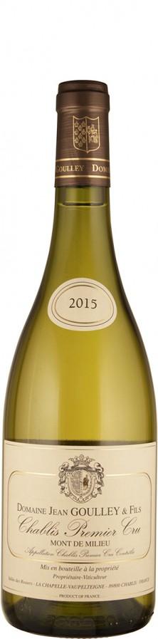 Domaine Jean Goulley Chablis Premier Cru Mont de Milieu 2015 - bio trocken Burgund Chablis Frankreich