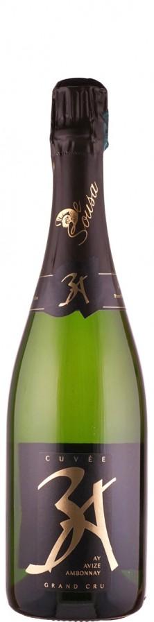 Champagne De Sousa et Fils Champagne Grand Cru extra brut 3 A (Avize, Aÿ, Ambonnay)  - FR-BIO-10 extra brut Champagne - Côte des Blancs Frankreich