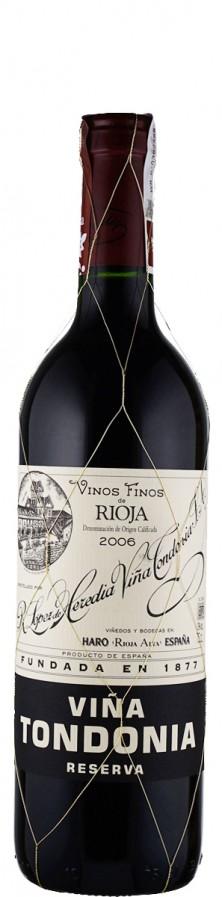 Rioja Reserva tinto Vina Tondonia 2006  - Tondonia - R. López de Heredia Vina Tondonia