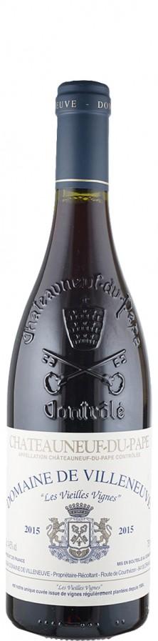 Châteauneuf-du-Pape Les Vieilles Vignes 2015 - bio - Domaine de Villeneuve
