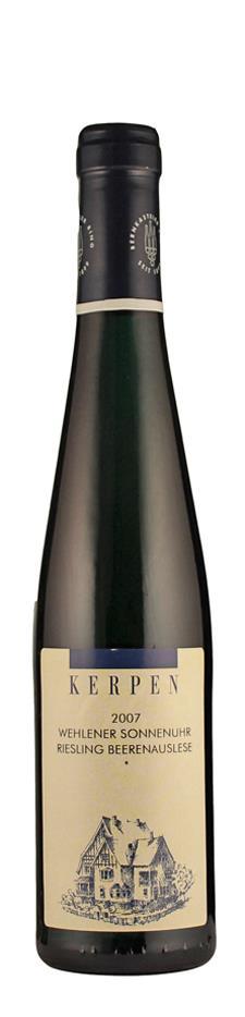 Weingut Kerpen Riesling Beerenauslese Wehlener Sonnenuhr 2007 edelsüß Mosel Deutschland