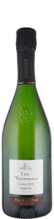 Champagne Premier Cru Millésime Blanc de Noirs extra brut Les Romaines 2009  - Godmé, Hugues