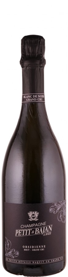 "Champagne Grand Cru Blanc de Noirs brut ""Obsidienne""   - Petit & Bajan"