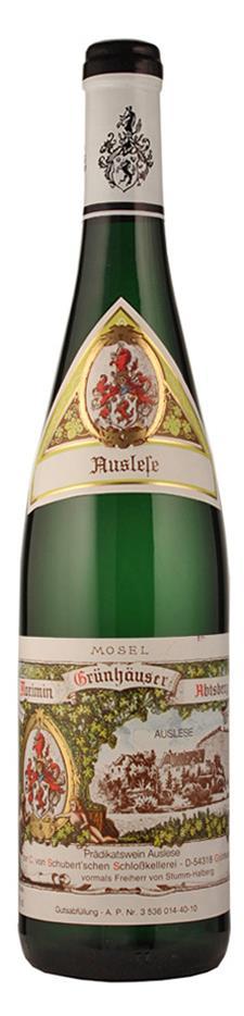Weingut Maximin Grünhaus Riesling Auslese Abtsberg 2009 süß Mosel Deutschland
