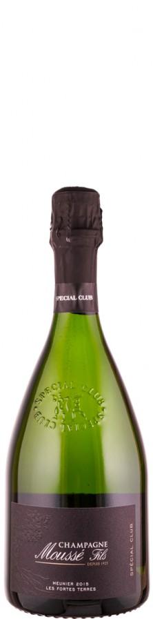 """Champagne Blanc de Noirs extra brut Special Club - Lie Dit """"Les Fortes Terres"""" 2015  - Moussé Fils"""