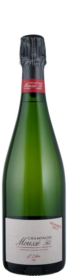 Champagne Blanc de Noirs brut nature L'extra 'Or - degorgement tardif   - Moussé Fils