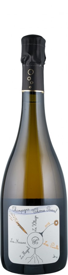 """Champagne Millésimé brut nature Lieu Dit """"La Pucelle"""" 2015 Biowein - FR-BIO-01 - Perseval, Thomas"""