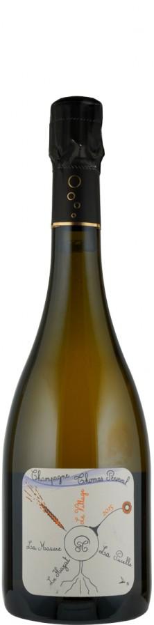 """Champagne Millésimé brut nature Lieu Dit """"Le Village"""" 2015 - FR-BIO-01 - Perseval, Thomas"""