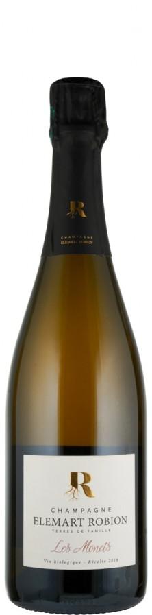 Champagne extra brut Les Monets 2016 - FR-BIO-01 - Elemart Robion