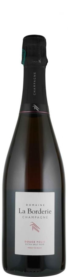 Champagne Rosé de Saignée extra brut Cuvée Douce Folie   - La Borderie