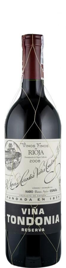 Rioja Reserva tinto Vina Tondonia 2008  - Tondonia - R. López de Heredia Vina Tondonia