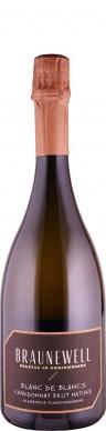Weingut Braunewell Chardonnay Blanc de Blancs brut nature Sekt - traditionelle Flaschengärung 2017