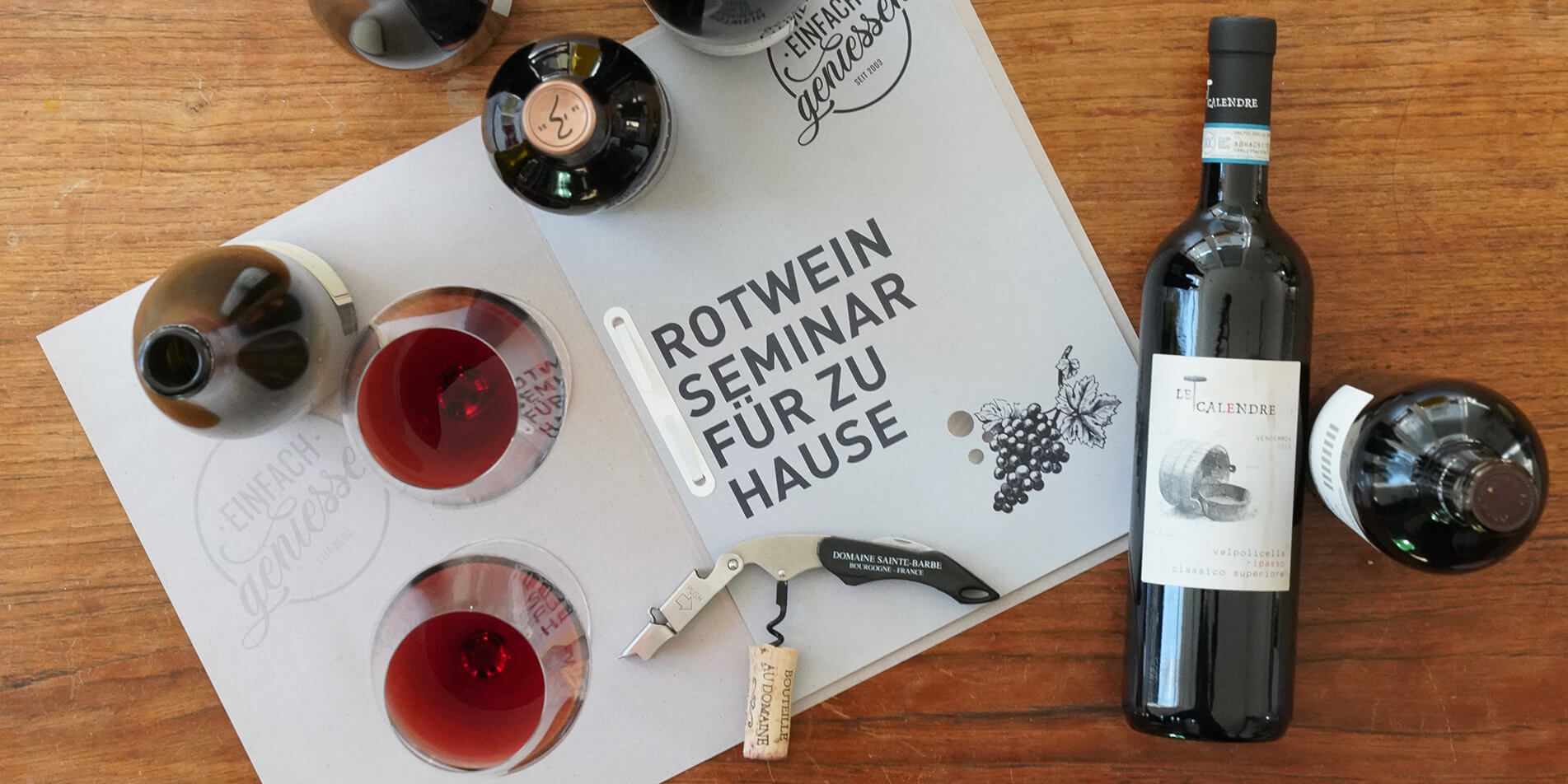 Weinseminare für zu Hause